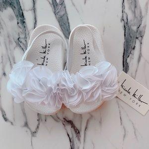 Nicole Miller Toddler Girls Flower Slide Sandal